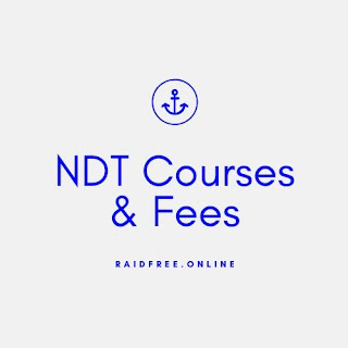 NDT Courses & Fees - List Of Nondestructive testing Courses, Fees