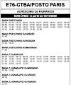 Horário de ônibus E76 CURITIBA / POSTO PARIS 2020 | São José dos Pinhais PR