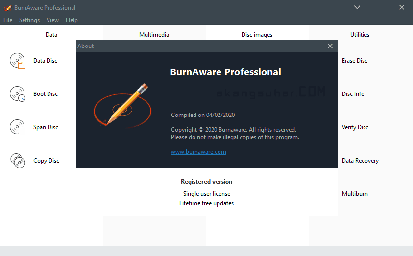 Gratis Download BurnAware Professional Full Crack Terbaru