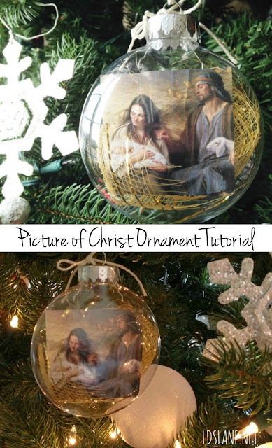 Picture of Christ Ornament Tutorial