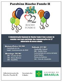 Desfile Cívico e Corte de bolo em comemoração aos 22 anos do Riacho Fundo II