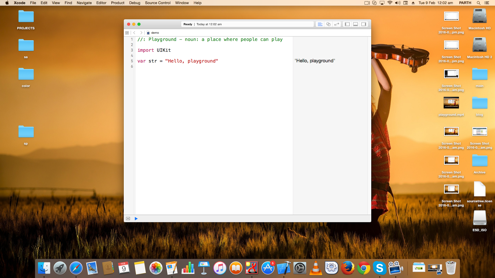 how to create a playground in Xcode