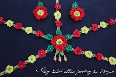 Gaye Holud ribbon jewellery