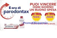 Logo Parodontax ''Ora di vincere'': in palio buoni spesa da 100€ e da 200€