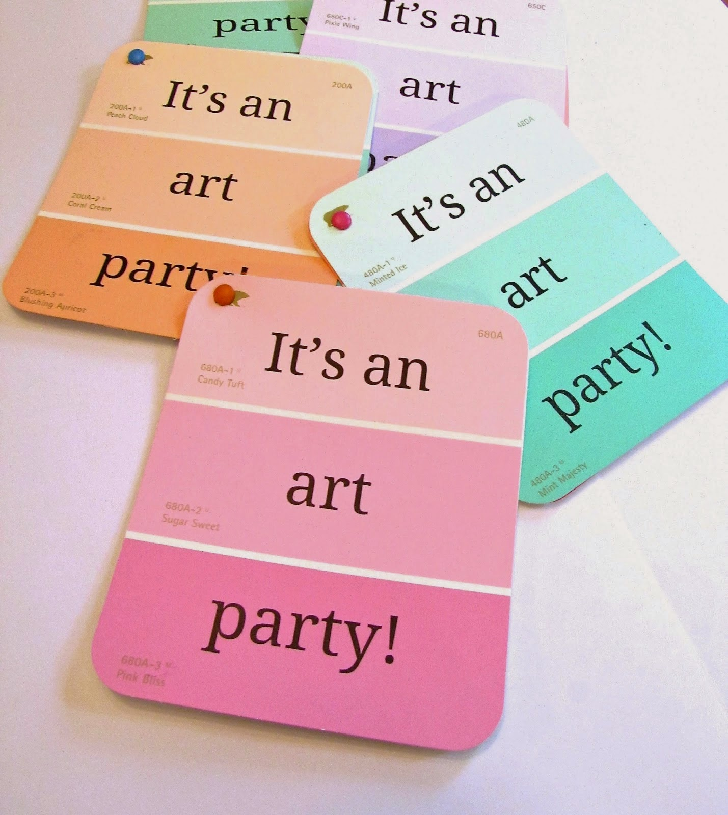 kids art party invitaions