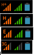 Difference speed comparision between G E R 3G H H+ 4G signals