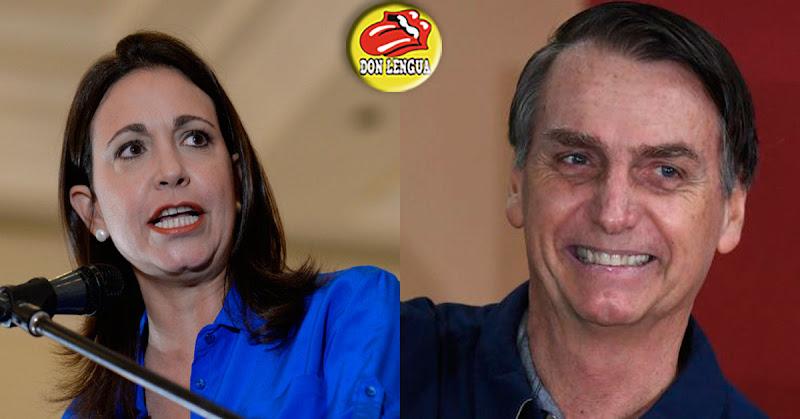 María Corina Machado espera que Bolsonaro ayude a los venezolanos a salir de Maduro