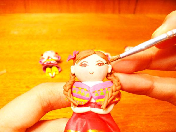 imanes muñecas niñas con porcelana fria