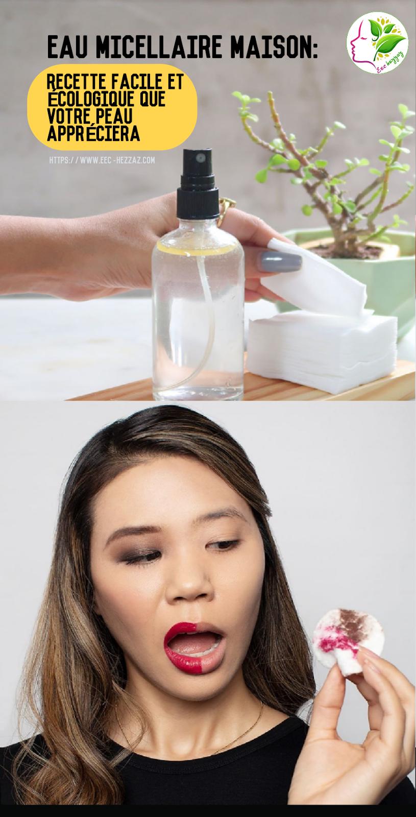 Eau micellaire maison: recette facile et écologique que votre peau appréciera