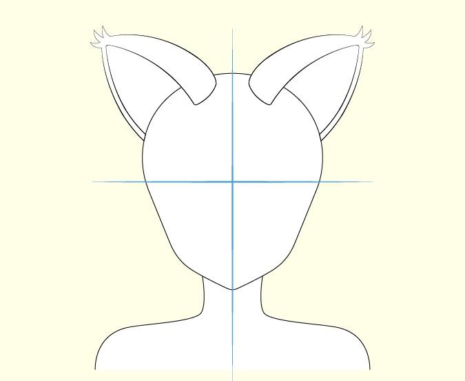 Gambar telinga gadis kucing anime