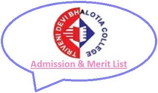TDB College Merit List