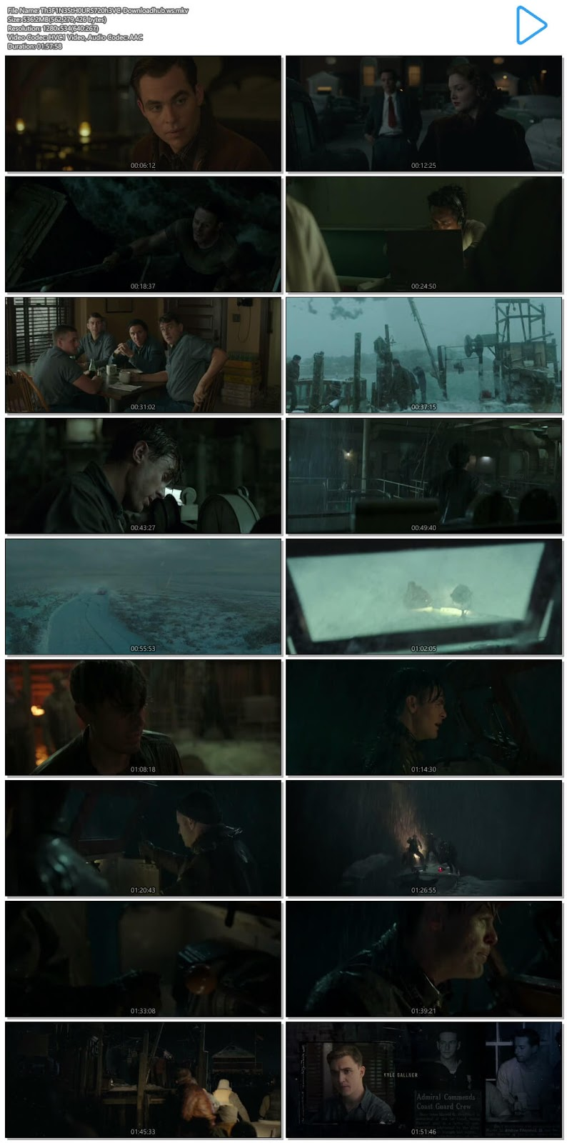 The Finest Hours 2016 Hindi Dual Audio 720p HEVC BluRay Free Download