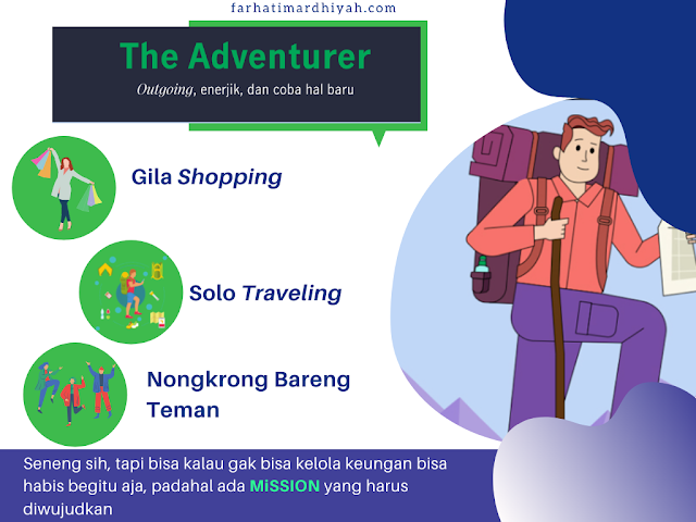 kriteria millenial, tipe millenial, tipe milenial, the adventurer, the visioner,