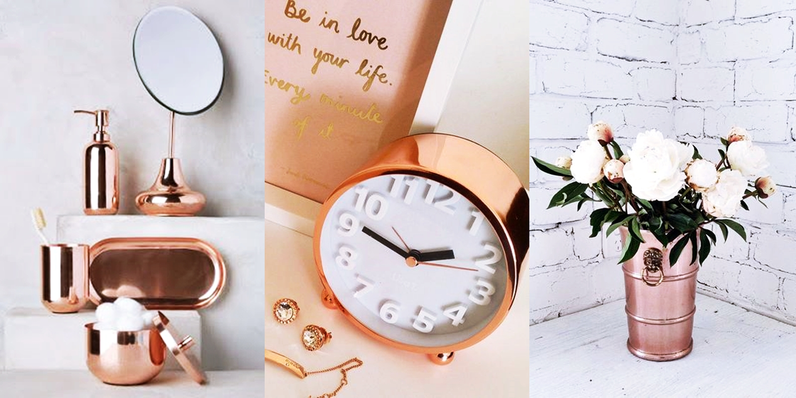 Decorando com Rose Gold | Cobre + Onde comprar
