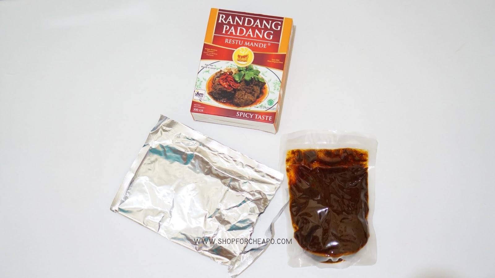 rendang daging sapi restu mande sederhana