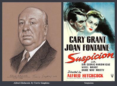 Alfred Hitchcock. The Master of Suspense. Film Director. Suspicion. by Travis Simpkins