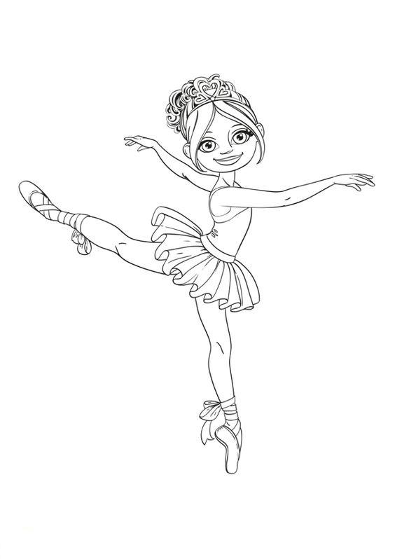 Tranh tô màu bé gái múa bale đẹp