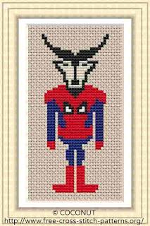 superman cross stitch pattern for free