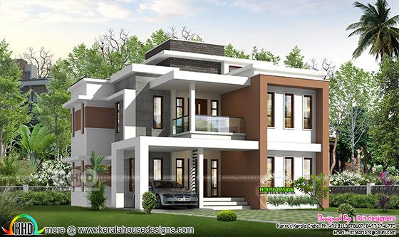 Rendering of 4 bedroom modern house architecture