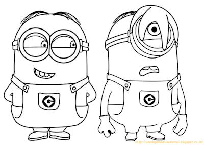 Mewarnai Gambar Minions - 2