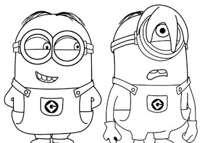 Mewarnai Gambar Kartun Minion
