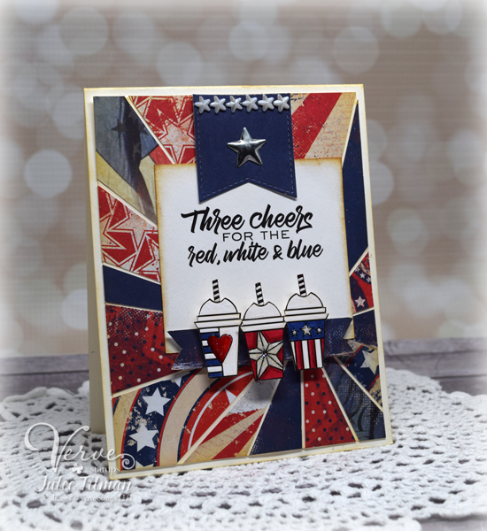 Americana handmade card by Julee Tilman featuring Verve Stamps| www.vervestamps.blogspot.com