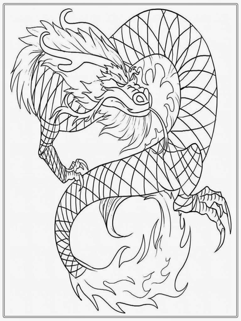 chinesse dragon coloring pages - photo#33