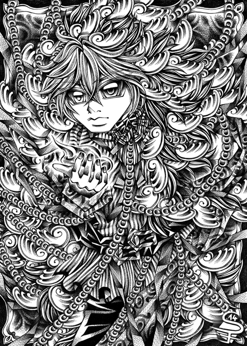 05-Chaos-Wings-Sandra-Filipova-DarkSena-Manga-Black-and-White-and-Colour-Detailed-Drawings-www-designstack-co