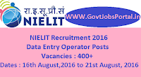 NIELIT Recruitment 2016