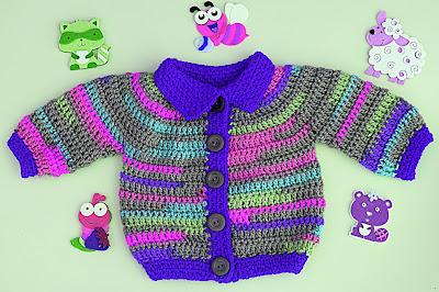 6 - Crochet Imagen Chaqueta a crochet para niño niña muy fácil y rápido por Majovel Crochet