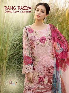 Shree Fab Rang Rasiya Digital lawn pakistani Suits wholesaler