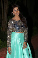 Nikki Galrani in Green Skirt  Top at Marakathamani music launch ~  Exclusive (46).JPG