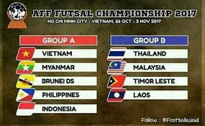 Jadual dan Keputusan Perlawanan Kejohanan AFF Futsal 2017