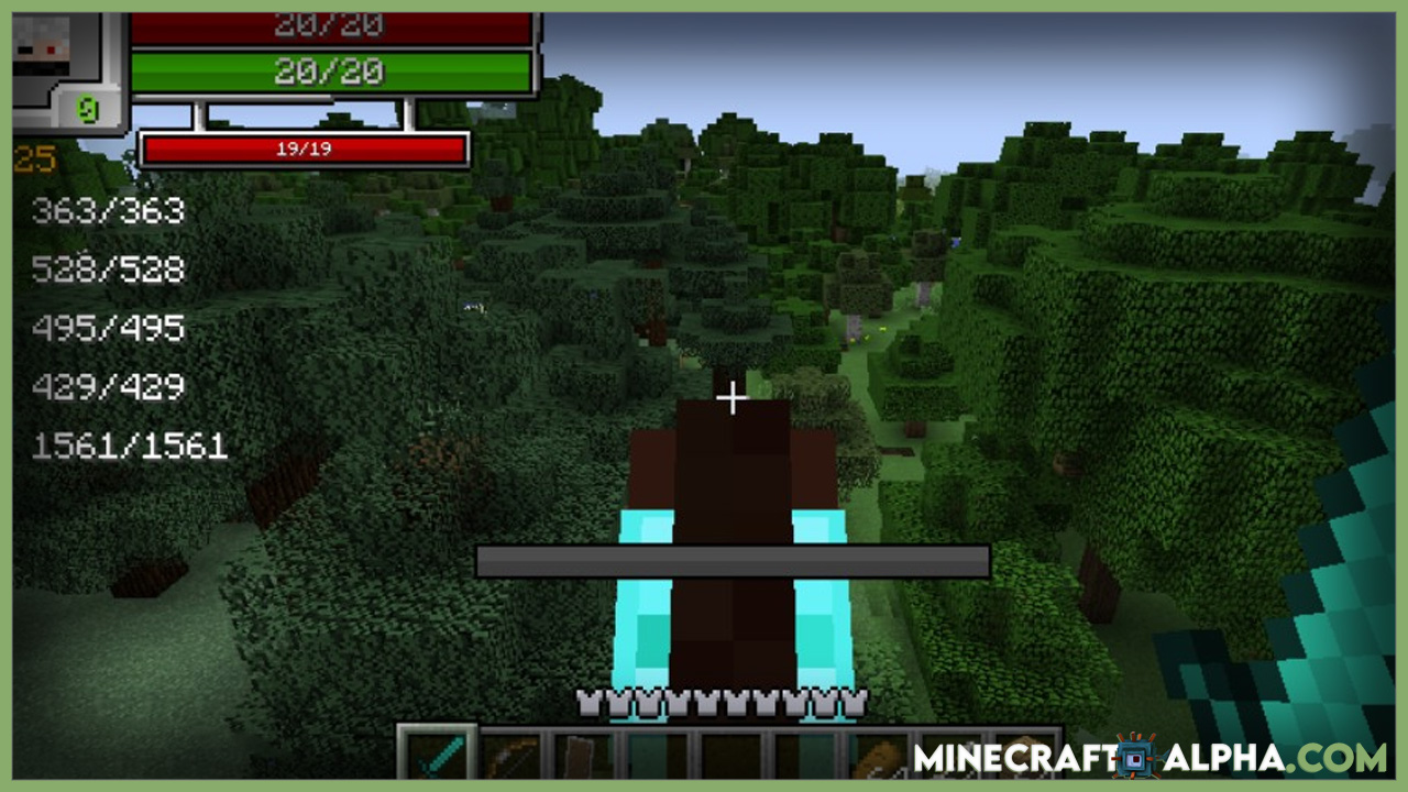 Minecraft RPG-Hud Mod 1.17.1 (Minecraft RPG Style)