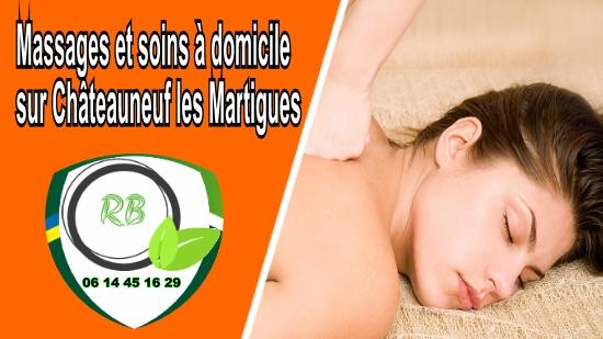 Massages et soins à domicile sur Châteauneuf les Martigues;