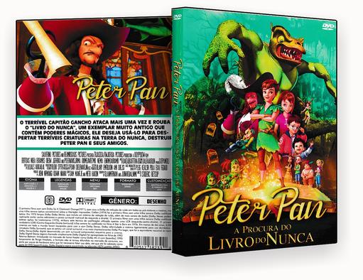 CAPA DVD – PETER PAN A PROCURA DO LIVRO DO NUNCA 2018 – ISO