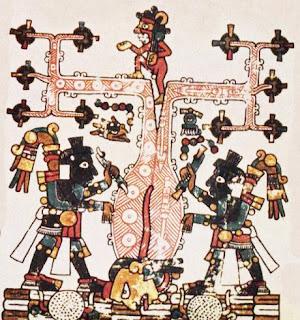 Maja Azteken - Menschen Geburt aus dem Weltenbaum und Baum des Lebens