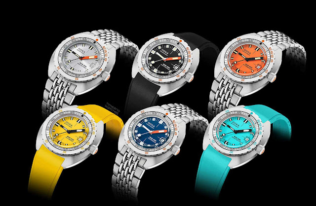 DOXA SUB 300 COSC, the new 2020 models in six colours