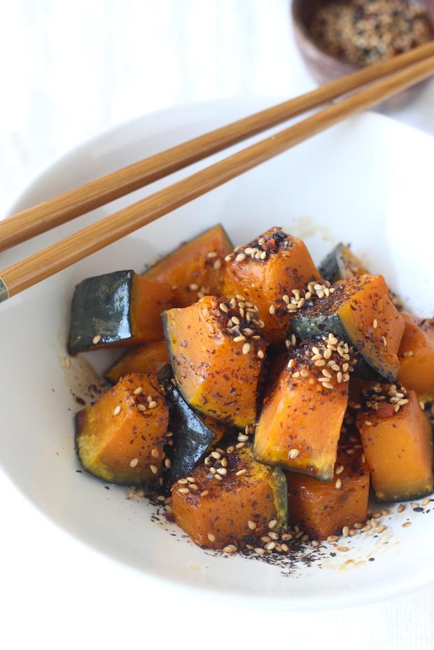 Soy Glazed Kabocha Squash with Japanese Sesame Seasoning by SeasonWithSpice.com