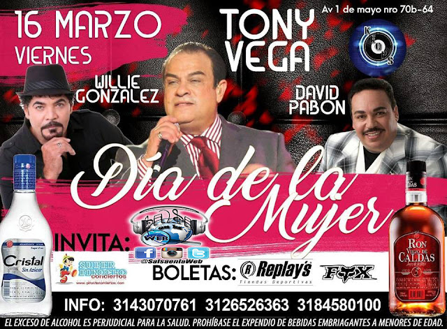 ► Willie Gonzales, Tony Vega y David Pabon en Concierto