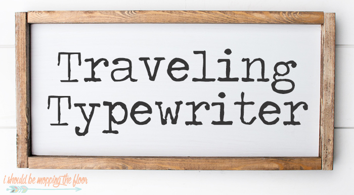 Traveling Typewriter