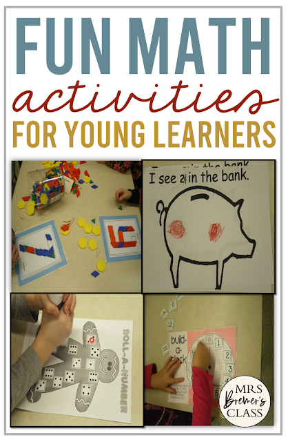 Fun math center activity ideas for Kindergarten