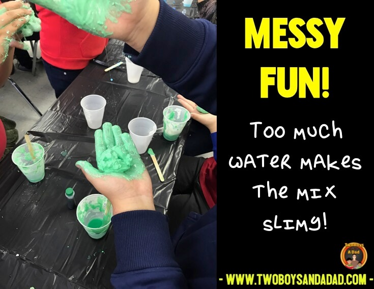 If you use too much water, it's a mess!