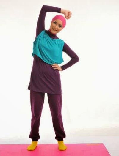 Baju senam muslimah yang trendy dan syar'i