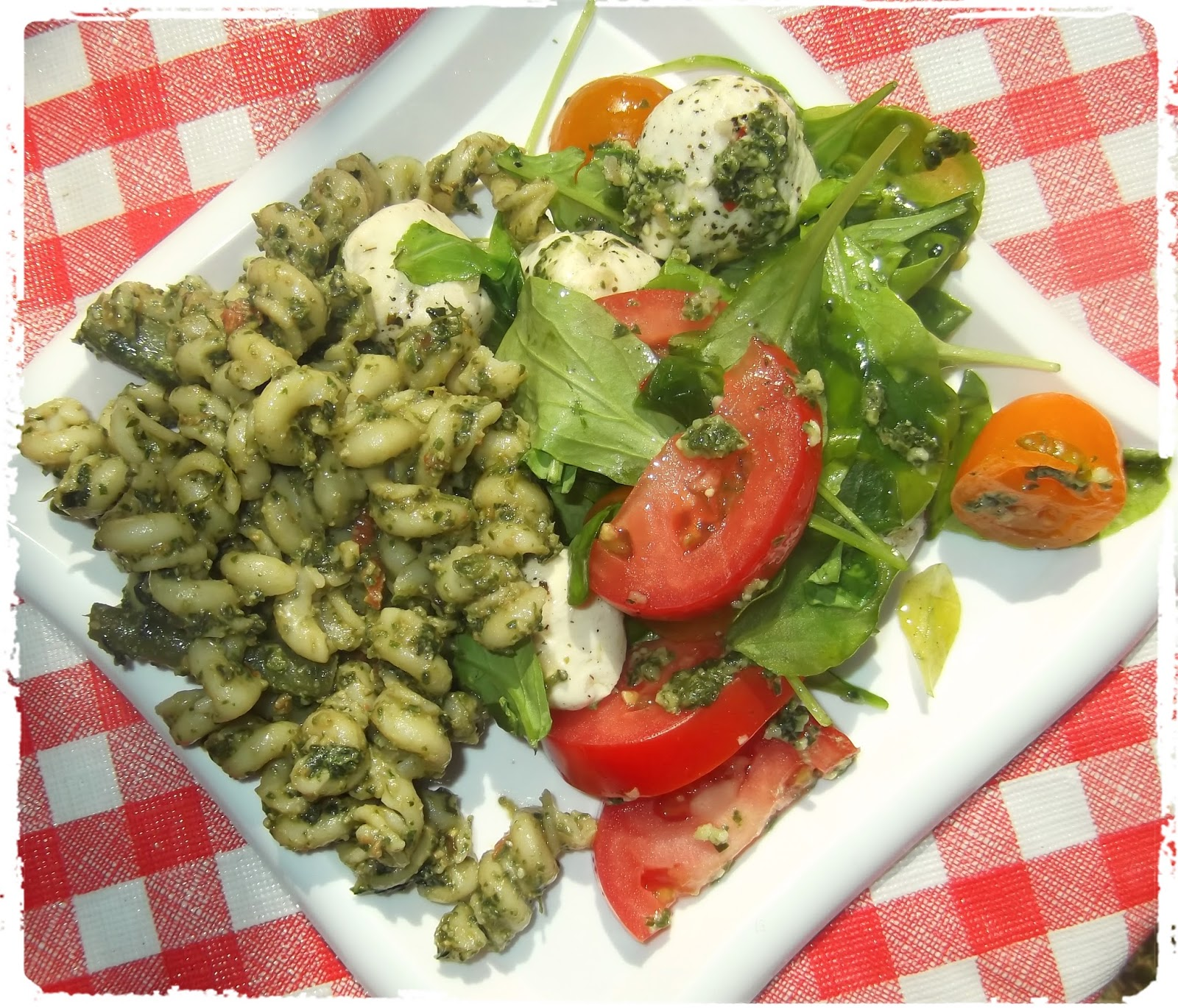 Ina Garten Green Salad: Rosie's Country Baking: Pesto Pasta Salad With Spinach