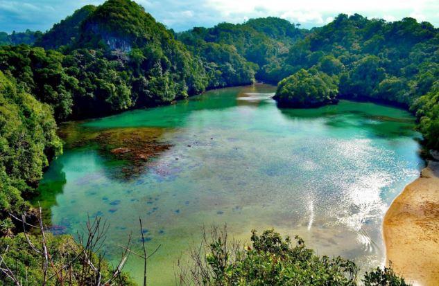Hasil gambar untuk pulau sempu malang