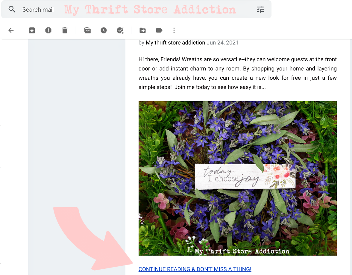 email subscription update