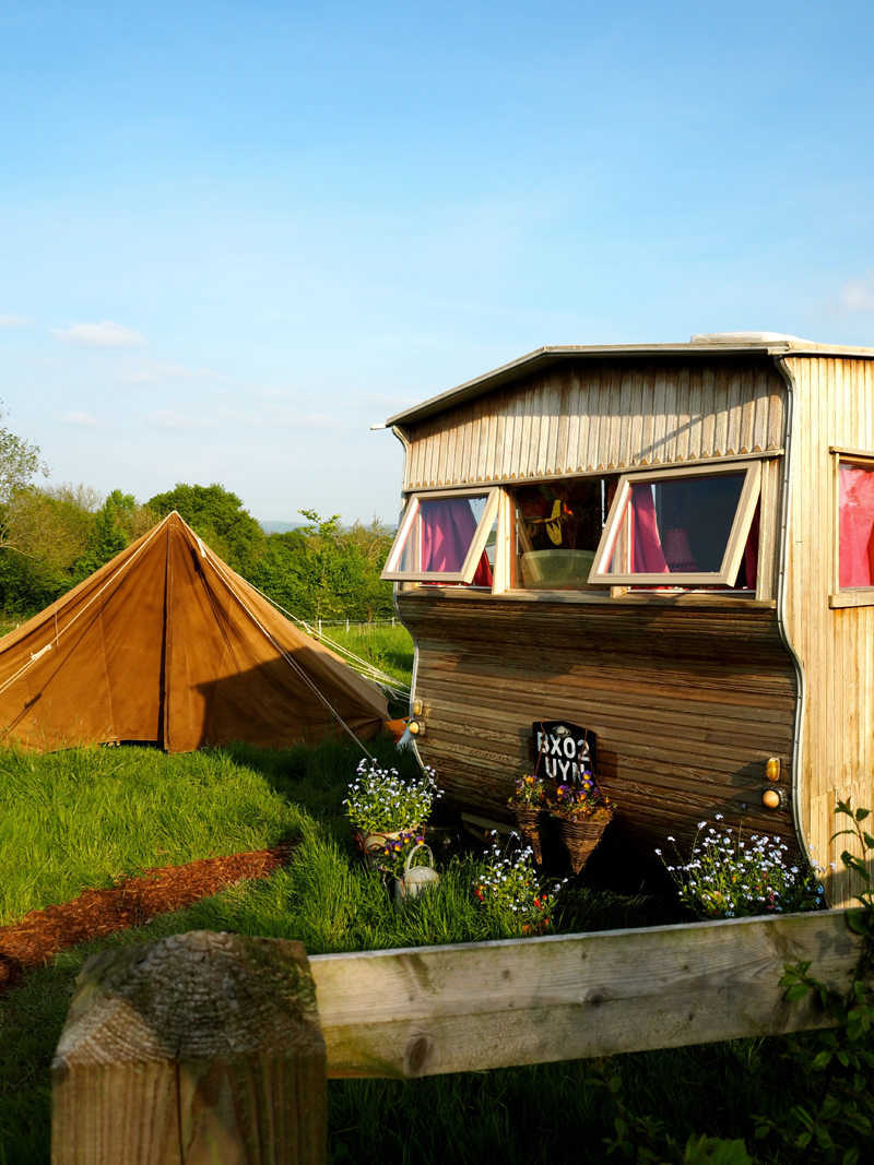 Glamping weekend in Dorset with Honeybuns gluten-free cakes
