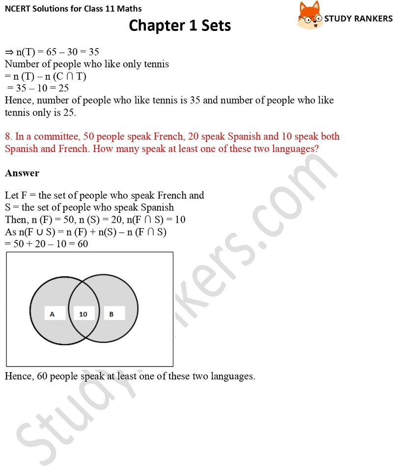 NCERT Solutions for Class 11 Maths Chapter 1 Sets 23
