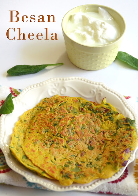 Besan Cheela | Besan Puda | Chickpea Flour Pancake